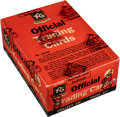 """Non-Sport Cards:Unopened Packs/Display Boxes, 1953 Topps """"World On Wheels"""" Cello Box with 36 Unopened Packs!..."""