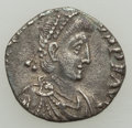 Ancients:Roman Imperial, Ancients: Honorius, Western Roman Empire (AD 393-423). AR siliqua (14mm, 0.91 gm, 11h). VF, clipped....