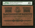 World Currency, Mauritius Government of Mauritius 10 Rupees 1.1.1927 Pick 17 PMG Choice Extremely Fine 45 EPQ.. ...