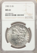 Morgan Dollars: , 1901-S $1 MS61 NGC. NGC Census: (182/1668). PCGS Population: (126/3125). CDN: $475 Whsle. Bid for problem-free NGC/PCGS MS6...