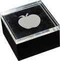 Music Memorabilia:Memorabilia, The Beatles Apple Lucite Paperweight Trinket Box (1968). ...