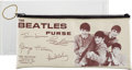Music Memorabilia:Memorabilia, The Beatles Vinyl Clutch Purse (UK, 1964).. ...