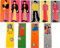 Music Memorabilia:Memorabilia, The Beatles Original Yellow Submarine Set of Wall Plaques and Bulletin Boards (10) (1968). ... (Total: 10 Items)