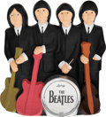 Music Memorabilia:Memorabilia, The Beatles Hand Painted Group Pose Statue with Instruments. . ...