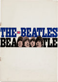Music Memorabilia:Memorabilia, Beatles 1966 Large Japanese Concert-Tour Program...