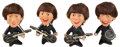 Music Memorabilia:Memorabilia, The Beatles Set of Remco Dolls with Instruments (4) (1964).. ...