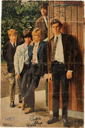 Music Memorabilia:Autographs and Signed Items, The Yardbirds Signed Large Format Magazine Poster. ...