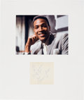 Music Memorabilia:Autographs and Signed Items, Marvin Gaye Signature in a Matted Display (1963)....