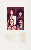 Movie/TV Memorabilia:Autographs and Signed Items, Grand Funk Railroad Signatures in a Matted Display. ...