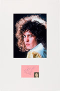 Music Memorabilia:Autographs and Signed Items, Marc Bolan Signature in a Matted Display....
