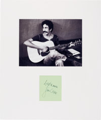 Jim Croce Signature in a Matted Display
