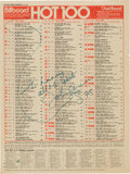 "Music Memorabilia:Autographs and Signed Items, John Lennon Signed BillboardHot 100 Chart with ""What Ever Gets You Through The Night"" at Number One (1974). ..."