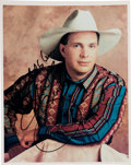 Music Memorabilia:Autographs and Signed Items, Garth Brooks Signed and Inscribed Photo....