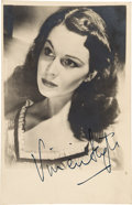 Movie/TV Memorabilia:Autographs and Signed Items, Vivien Leigh Signed Photo Card.. ...