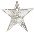 Music Memorabilia:Memorabilia, Ringo Starr Original Silver Star Prop used for the Record Label Artwork (1973). ... (Total: 2 Items)
