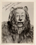 Movie/TV Memorabilia:Autographs and Signed Items, Bert Lahr Signed Black and White Photo as the Cowardly Lion (circa 1939)....