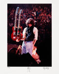 Music Memorabilia:Autographs and Signed Items, Jimmy Page Signed Limited Edition Print. ...