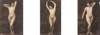 A.N. Paris Photo Company (20th Century) Posed Nude Tripych (3 works) Gelatin silver 5-3/8 x 3-3/8 inches (13.7 x 8.6