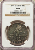 Philippines: USA Administration Proof Peso 1904 PR58 NGC