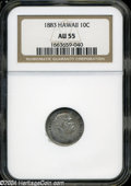 Coins of Hawaii: , 1883 10C Hawaii Ten Cents AU55 NGC. ...