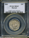 Coins of Hawaii: , 1883 25C Hawaii Quarter MS65 PCGS. ...