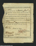 Colonial Notes:Massachusetts, State of Massachusetts Bay 10 Pounds 6% Jan. 1, 1777, Fine.