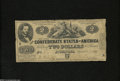 Confederate Notes:1861 Issues, T38 $2 1861....