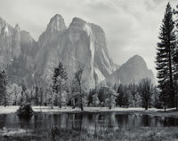 Ansel Adams (American, 1902-1984) Cathedral Spires and Rocks, Late Afternoon, Yosemite National Park, California, circa...