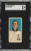 Baseball Cards:Singles (Pre-1930), 1909-11 T206 Drum Jack Barry SGC PR 1 - Only Two SGC & PSA Graded Examples!...