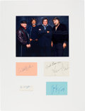Music Memorabilia:Autographs and Signed Items, Johnny Cash / Willie Nelson / Waylon Jennings / Kris Kristofferson - Highwaymen Signature Set in a Framed Display....