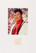 Music Memorabilia:Autographs and Signed Items, Ritchie Valens Signature in a Matted Display....