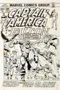 Original Comic Art:Covers, Sal Buscema and Frank Giacoia Captain America #154 Cover Original Art (Marvel, 1972)....