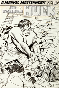 Jack Kirby and George Roussos Tales to Astonish #62 Hulk Pin-Up Page Original Art (Marvel, 1964)