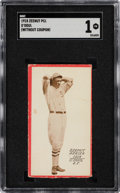 Baseball Cards:Singles (Pre-1930), 1918 E137 Zeenut Lefty O'Doul SGC Poor 1 - The Only SGC Graded Card! ...