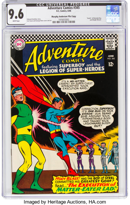 Adventure Comics #345 Murphy Anderson File Copy (DC, 1966) CGC NM+ 9.6 White pages....
