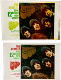 Music Memorabilia:Memorabilia, The Beatles Rubber Soul Capitol Promo Display Paper Posters (2) Without the Boards (1965).... (Total: 0 Items)
