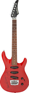 Musical Instruments:Electric Guitars, Stevie Ray Vaughan and Eric Clapton Signed Washburn Electric Guitar Serial #8033348. ...