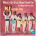 """Music Memorabilia:Recordings, """"Hi! We're The Miracles"""" Autographed Picture Sleeve Hand Signed in 1964. ..."""