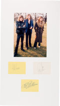 Music Memorabilia:Autographs and Signed Items, Emerson, Lake & Palmer Signatures in a Matted Display....