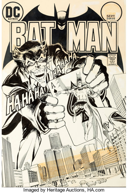 Neal Adams Batman #251 Cover The Joker Original Art (DC, 1973)....