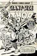 Original Comic Art:Covers, Gil Kane and Joe Sinnott Giant-Size Thor #1 Cover Original Art (Marvel, 1975)....