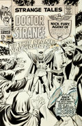 Original Comic Art:Covers, Marie Severin (attributed) and Dan Adkins Strange Tales #160 Cover Doctor Strange Original Art (Marvel, 1967)....