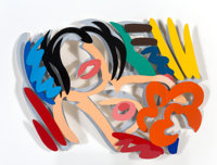 Tom Wesselmann (1931-2004) Maquette for Big Blonde (Double Layer) (3-D), 1990 Liquitex on Bristol Board 10-1/2 x 14 i