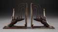 Metalwork, Pair of Edgar Brandt Wrought Iron Pelican Bookends, circa 1925. Marks: E BRANDT. 6-1/2 inches (16.5 cm) (eac... (Total: 2 Items)