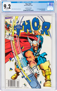 Thor #337 Canadian Price Variant (Marvel, 1983) CGC NM- 9.2 White pages