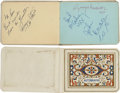 Music Memorabilia:Autographs and Signed Items, Beatles Full Set of Signatures in an Autograph Book....