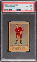 Hockey Cards:Singles (Pre-1960), 1951 Parkhurst Gordie Howe #66 PSA NM-MT 8....