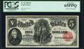 Large Size:Legal Tender Notes, Fr. 80 $5 1880 Legal Tender PCGS Gem New 65PPQ.. ...