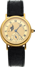 Timepieces:Wristwatch, Breguet, Ref. 3300BA, 18k Yellow Gold Moonphase, Manual Wind, Circa 2000. ...