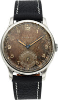 Timepieces:Wristwatch, Eterna, 38mm Calatrava Cal. 852 Radium Dial, Stainless Steel, Circa 1940's. ...